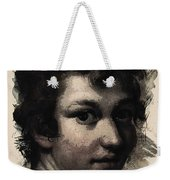 Young Faces From The Past Series By Adam Asar, No 116 Weekender Tote Bag