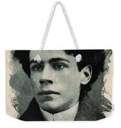 Young Faces From The Past Series By Adam Asar, No 15 Weekender Tote Bag