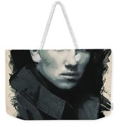 Young Faces From The Past Series By Adam Asar, No 33 Weekender Tote Bag
