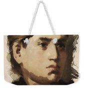 Young Faces From The Past Series By Adam Asar, No 36 Weekender Tote Bag