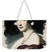 Young Faces From The Past Series By Adam Asar, No 37 Weekender Tote Bag