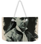 Young Faces From The Past Series By Adam Asar, No 41 Weekender Tote Bag