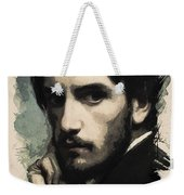 Young Faces From The Past Series By Adam Asar, No 43 Weekender Tote Bag