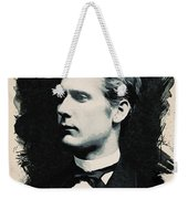 Young Faces From The Past Series By Adam Asar, No 44 Weekender Tote Bag