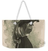Young Faces From The Past Series By Adam Asar, No 47 Weekender Tote Bag