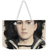Young Faces From The Past Series By Adam Asar, No 48 Weekender Tote Bag