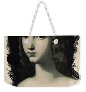 Young Faces From The Past Series By Adam Asar, No 5 Weekender Tote Bag