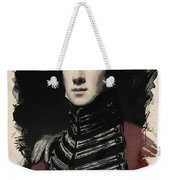Young Faces From The Past Series By Adam Asar, No 54 Weekender Tote Bag