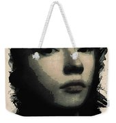 Young Faces From The Past Series By Adam Asar, No 75 Weekender Tote Bag