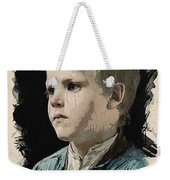 Young Faces From The Past Series By Adam Asar, No 77 Weekender Tote Bag
