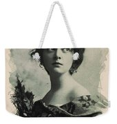 Young Faces From The Past Series By Adam Asar, No 82 Weekender Tote Bag