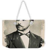 Young Faces From The Past Series By Adam Asar, No 84 Weekender Tote Bag