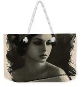 Young Faces From The Past Series By Adam Asar, No 92 Weekender Tote Bag