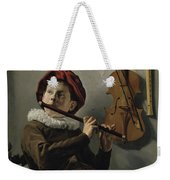 Young Flute Player , Judith Leyster, 1630 Weekender Tote Bag