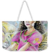 Young Girl From Tahiti Weekender Tote Bag