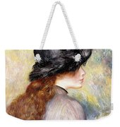 Young Girl Holding A Bouquet Of Tulips, Weekender Tote Bag
