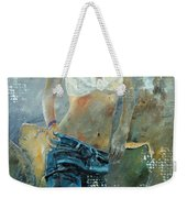 Young Girl In Jeans  Weekender Tote Bag