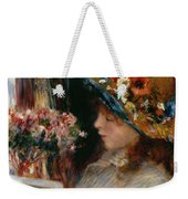 Young Girl Reading Weekender Tote Bag