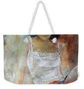 Young Girl Sitting Weekender Tote Bag