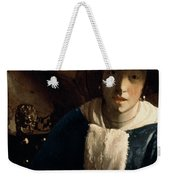 Young Girl With A Flute Weekender Tote Bag