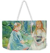 Young Girls At The Window Weekender Tote Bag by Berthe Morisot