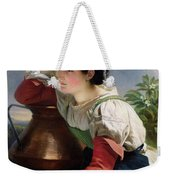 Young Italian At The Well Weekender Tote Bag