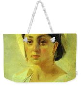 Young Italian Woman In A Folk Costume Study Weekender Tote Bag