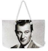 Young John Wayne, Hollywood Legend Weekender Tote Bag