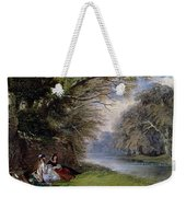 Young Ladies By A River Weekender Tote Bag by John Edmund Buckley