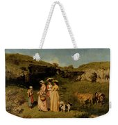 Young Ladies Of The Village By Gustave Courbet, 1851-1852 Weekender Tote Bag