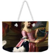 Young Lady With A Bird And A Dog Weekender Tote Bag