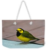 Young Male Hooded Warbler 6 Weekender Tote Bag