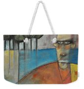 Young Man And The Sea With Trees Weekender Tote Bag