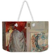 Young Man On A Door French Room, Emilio Weekender Tote Bag