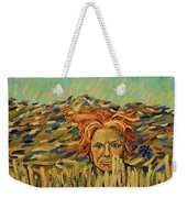Young Man With A Corn Flower Weekender Tote Bag