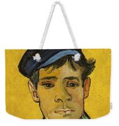 Young Man With A Hat Weekender Tote Bag