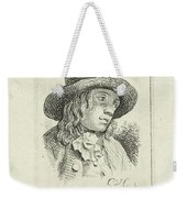 Young Man With Hat Weekender Tote Bag