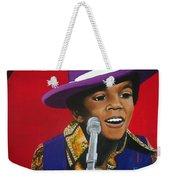 Young Michael Jackson Singing Weekender Tote Bag