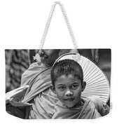 Young Monks 2 Bw Weekender Tote Bag