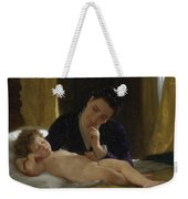 Young Mother Child Contemplating Adolphe William Bouguereau Weekender Tote Bag