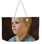 Young Mother Contemplating Her Sleeping Child In Candlelight - Albert Anker Weekender Tote Bag