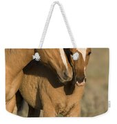 Young Mustangs Playing Weekender Tote Bag