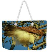 Young Red-tail Weekender Tote Bag