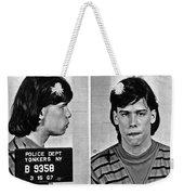 Young Steven Tyler Mug Shot 1963 Pencil Photograph Black And White Weekender Tote Bag