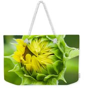 Young Sunflower Weekender Tote Bag