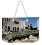 Young Syrian Boys On Top Weekender Tote Bag
