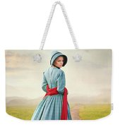 Young Victorian Woman On A Country Path Weekender Tote Bag