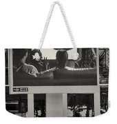 Young Woman And Outdoor Television Display Weekender Tote Bag