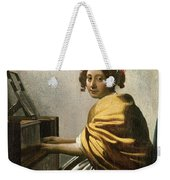 Young Woman At A Virginal Weekender Tote Bag