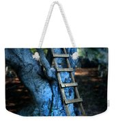 Young Woman Climbing A Tree Weekender Tote Bag